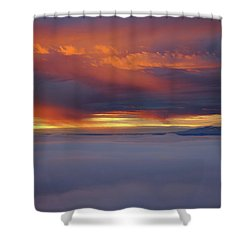 Cloud Layer Sunrise At Dead Horse Point State Park Shower Curtain