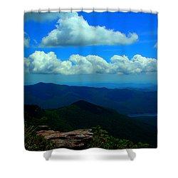Cloud Lit Sky Shower Curtain