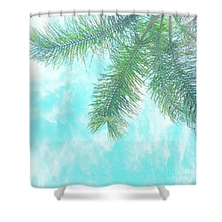 Shower Curtain featuring the photograph Cloud-marbled Sky by Cindy Garber Iverson