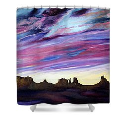 Cloud Movement Shower Curtain