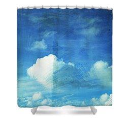 Cloud Painting Shower Curtain by Setsiri Silapasuwanchai