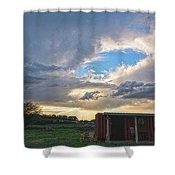 Cloud Portal Shower Curtain