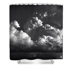 Cloud Power Over The Lake Shower Curtain by John Norman Stewart