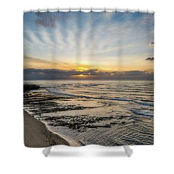 Cloud Rays Vertical Shower Curtain