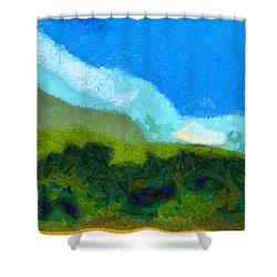 Cloud River Shower Curtain by Spyder Webb