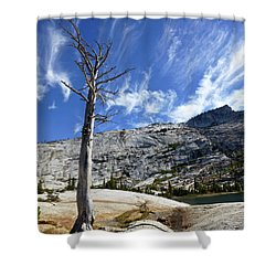 Cloud Stretch Lower Cathedral Lake Shower Curtain