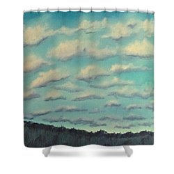 Cloud Study Cropped Image Shower Curtain