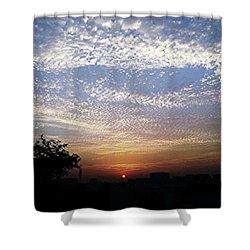Cloud Swirl At Sunrise Shower Curtain