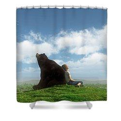 Cloud Watchers Shower Curtain by Cynthia Decker