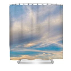 Cloud Wisps Shower Curtain by Audrey Van Tassell
