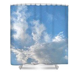 Cloud Wisps Too Shower Curtain by Audrey Van Tassell