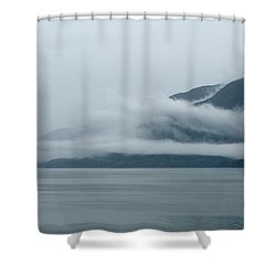 Cloud-wreathed Coastline Inside Passage Alaska Shower Curtain