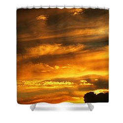 Clouded Sunset Shower Curtain by Kyle West