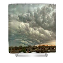 #cloudporn #sunset #instagood #front Shower Curtain by Charles DesLauriers