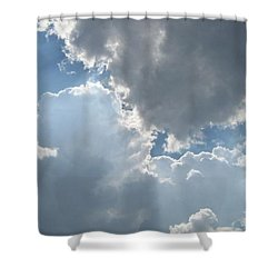 Clouds 1 Shower Curtain by Barbara Yearty