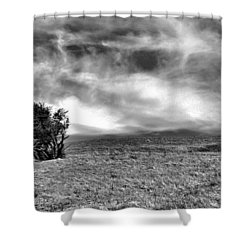 Clouds Above Hillside Shower Curtain