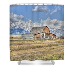 Clouds And Barn Shower Curtain