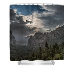 Clouds And Light Shower Curtain by Bill Roberts