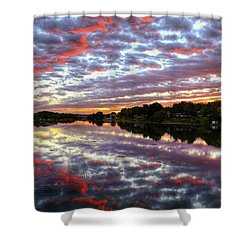 Shower Curtain featuring the photograph Clouds And More by Lynn Hopwood