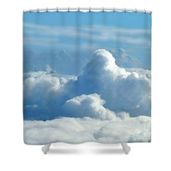 Shower Curtain featuring the digital art Clouds And Sky M2 by Francesca Mackenney