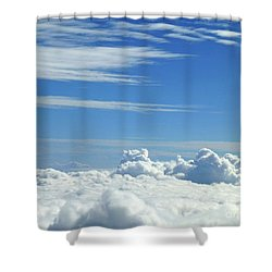 Shower Curtain featuring the photograph Clouds And Sky M4 by Francesca Mackenney