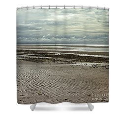 Clouds And Sun At Mayflower Beach Shower Curtain
