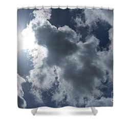 Shower Curtain featuring the photograph Clouds And Sunlight by Megan Dirsa-DuBois