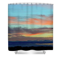 Clouds At Different Altitudes  Shower Curtain