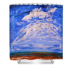 Shower Curtain featuring the painting Clouds Dance by Mary Carol Williams