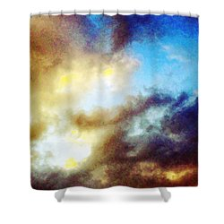 Clouds Shower Curtain by Flavien Gillet