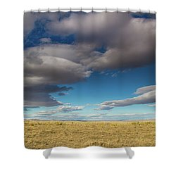 Clouds In Fields Oregon Shower Curtain