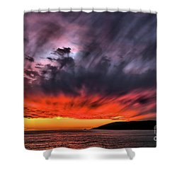 Clouds In Motion Before The Storm Shower Curtain
