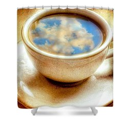 Clouds In My Coffee Shower Curtain