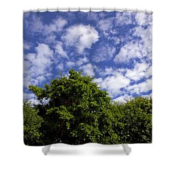 Clouds In My Sky Shower Curtain by Allan  Hughes
