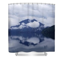 Clouds In The Lake Shower Curtain by Jane Eleanor Nicholas