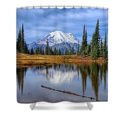 Clouds In The Morning Shower Curtain by Lynn Hopwood