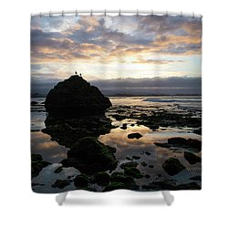 Shower Curtain featuring the photograph Clouds In The Sea by Lora Lee Chapman