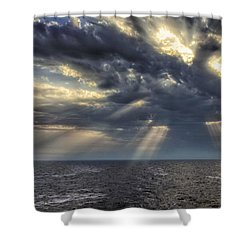 Clouds Shower Curtain by John Swartz