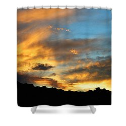 Clouds Of Liquid Gold Shower Curtain by Glenn McCarthy Art and Photography