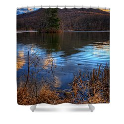 Clouds On Abbott Lake Shower Curtain