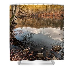 Shower Curtain featuring the photograph Clouds On The Lake by Okan YILMAZ