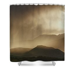 Clouds On The Rocky Mountains Front Range Foothills Shower Curtain by James BO  Insogna