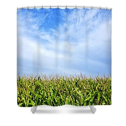 Clouds Over A Cornfield Shower Curtain