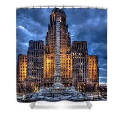 Clouds Over City Hall Shower Curtain