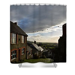 Clouds Over Gold Hill Shower Curtain