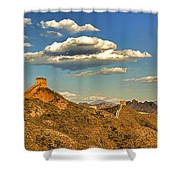 Clouds Over Great Wall Shower Curtain