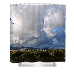 Clouds Over Napa County Shower Curtain