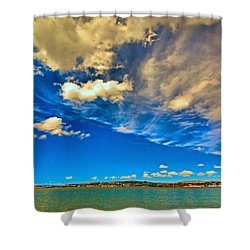 Clouds Over Suisun Bay Shower Curtain
