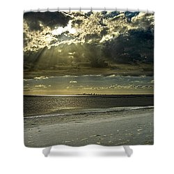 Clouds Over The Bay Shower Curtain by Christopher Holmes