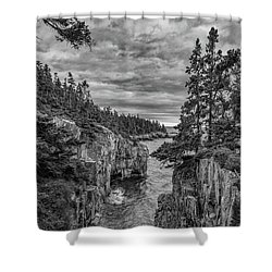 Clouds Over The Cliffs Shower Curtain